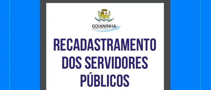 Prefeitura convoca servidores para recadastramento de dados funcionais