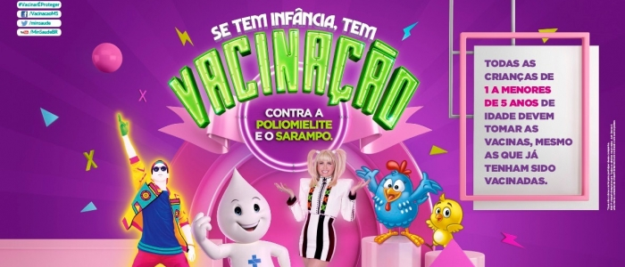 Vacinação contra Sarampo e Poliomielite acontece até 31 de agosto em Goianinha