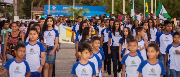 Desfile Cívico da zona rural abre oficialmente a XIV Semana de Arte Cultura em Goianinha