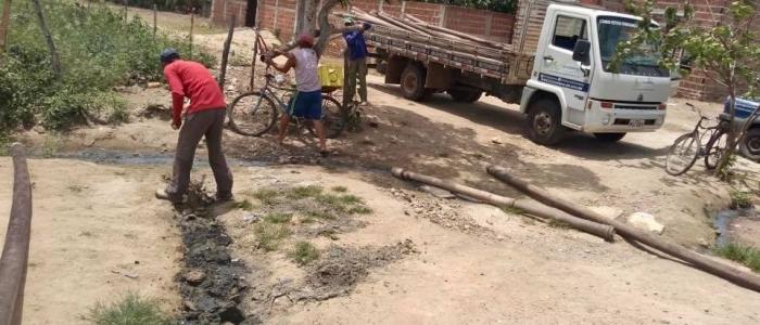 Prefeitura de Goianinha realiza drenagem e pavimentação em ruas da Una