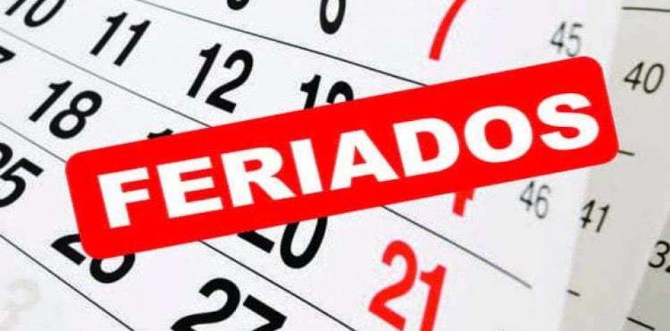 Prefeitura informa feriados municipais