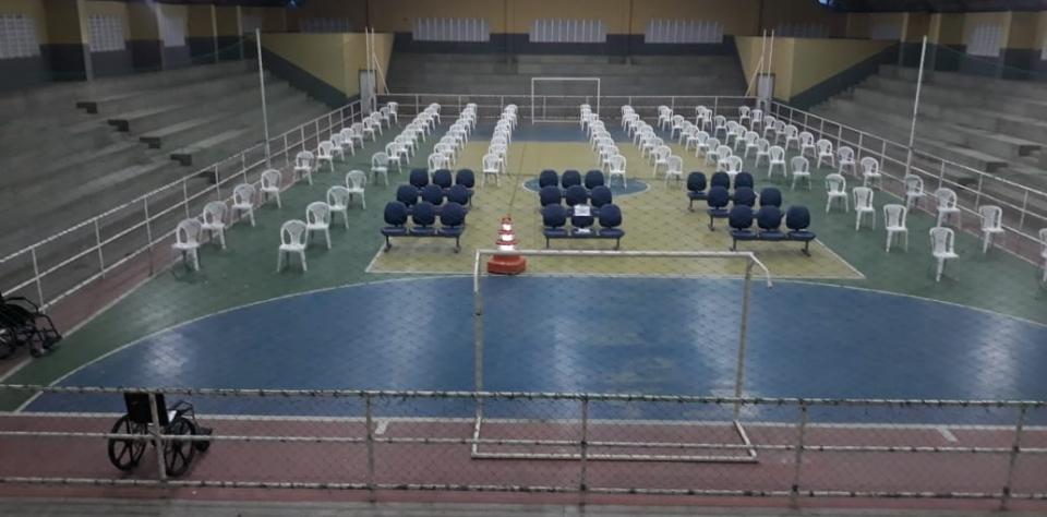 Prefeitura de Goianinha firma parceria com a Caixa Econômica e disponibiliza ginásio e profissionais para atender os seus beneficiários