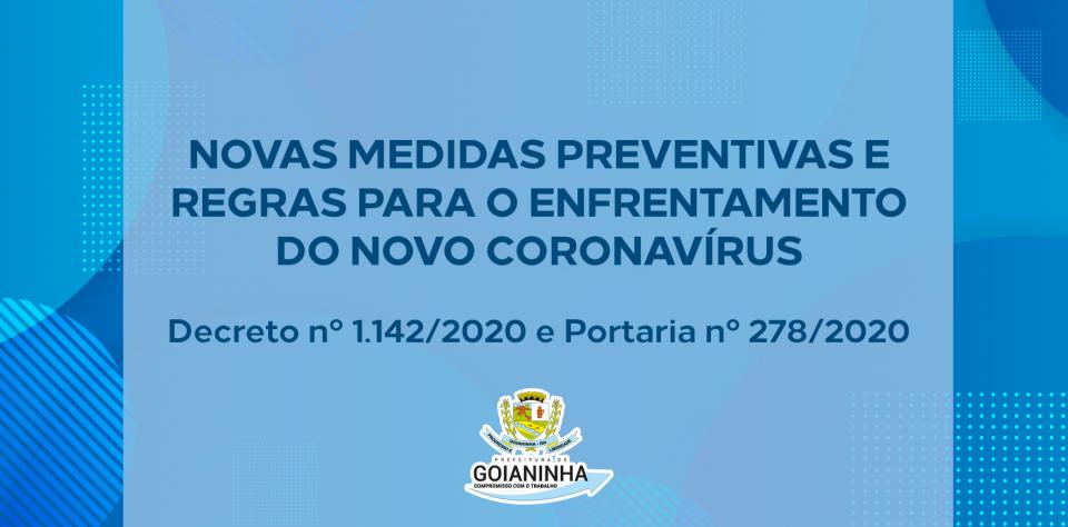 Confira as novas medidas preventivas e regras para o enfrentamento do avanço do coronavírus